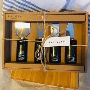 Rae Dunn Black Cheese Knife Set. 4 pieces. BNIB